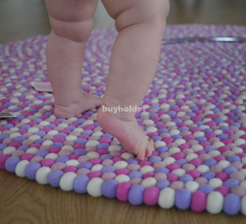100cm Filzkugelteppich Rosa Sweetie Kinder Teppich